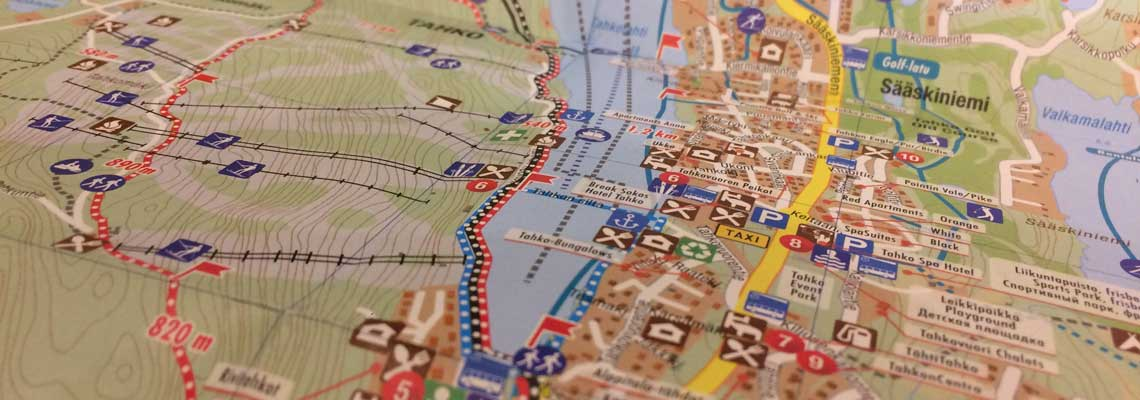 Tahko-retkeilykartta