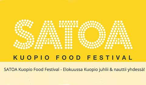 Satoa ruokafestivaali Kuopiossa elokuussa 2018.