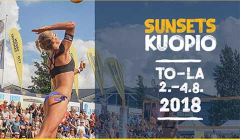 Sunsets Kuopio on beach volley -tapahtuma.