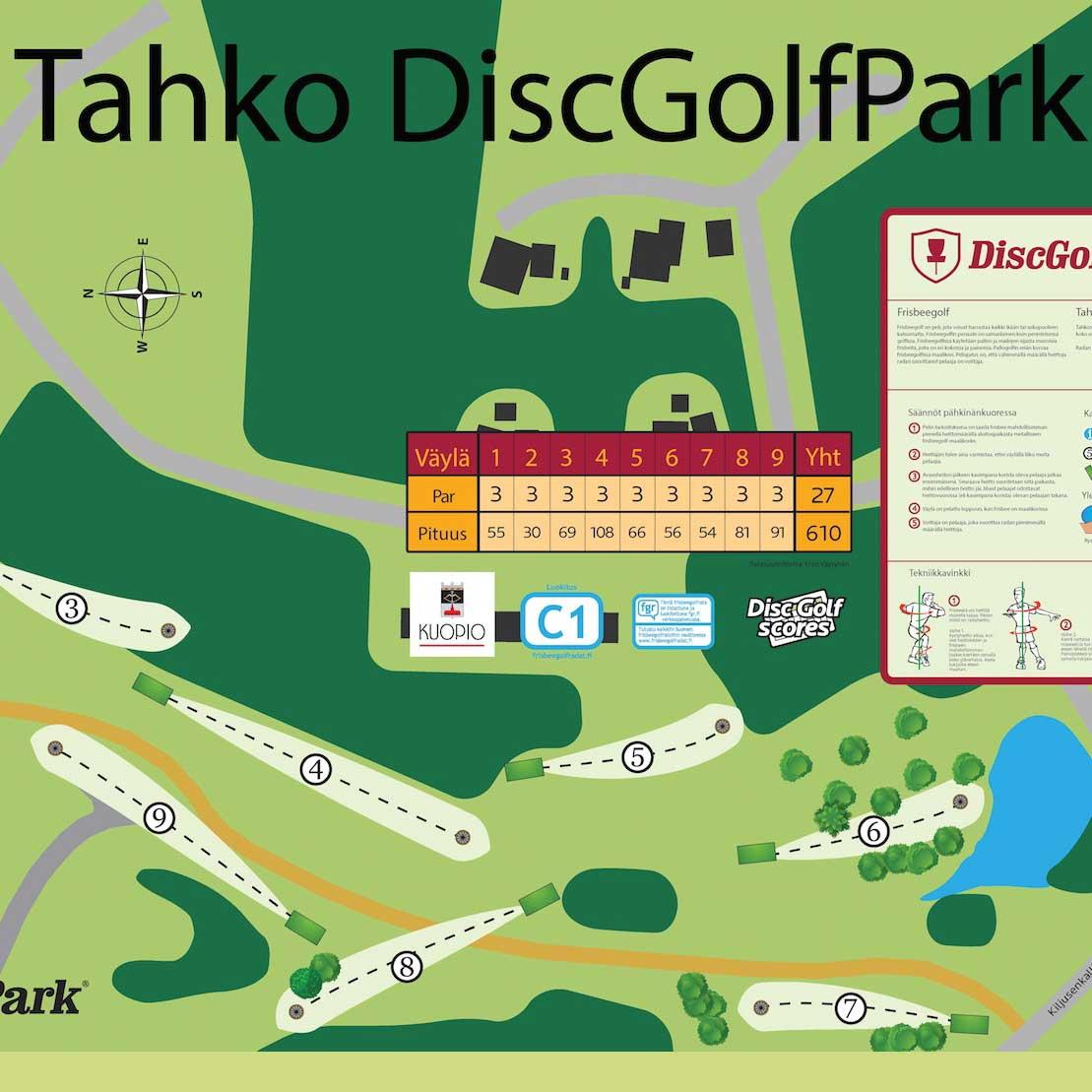 Tahko DiscGolfPark (9 väylää)