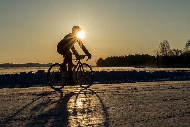 Finland Ice Marathonilla on myös nastapyöräilykilpailu