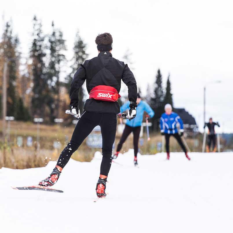 Лыжная трасса первого снега