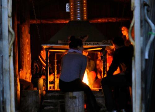 Rautavaaran Metsäkartanolla sijaitsee tunnelmallinen kammi