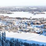Maisemakuva Tahkon laelta talvella