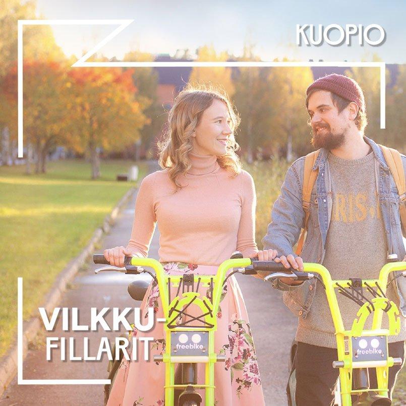 Vilkku citybikes in Kuopio