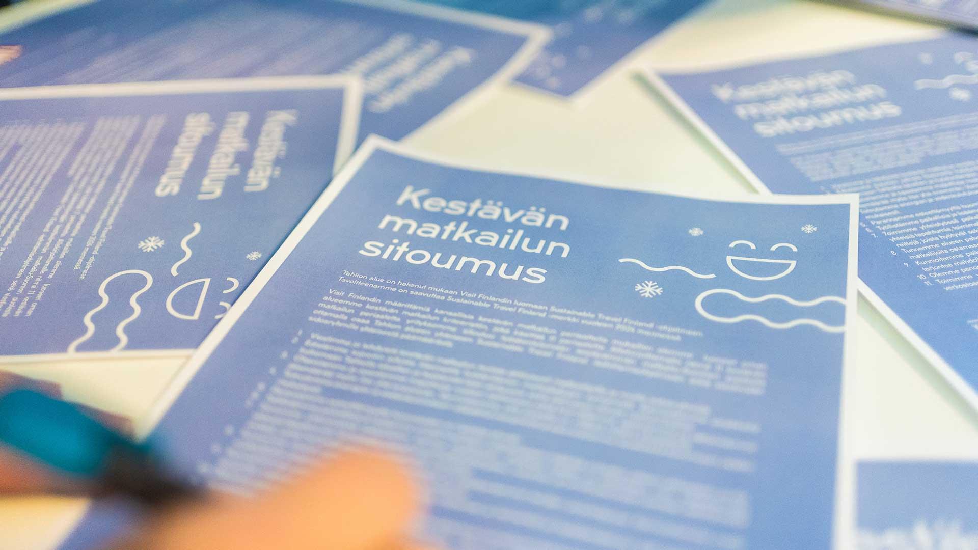 Tahko hakee mukaan Sustainable Travel Finland -ohjelmaan