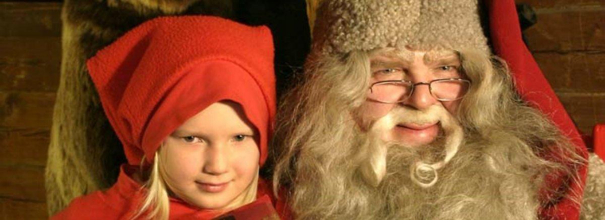 Santa giving a prsent