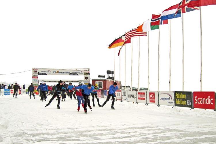 Finland Ice Marathon Kuopiossa