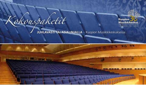 Kuopion Musiikkikeskuksen kokoustilat