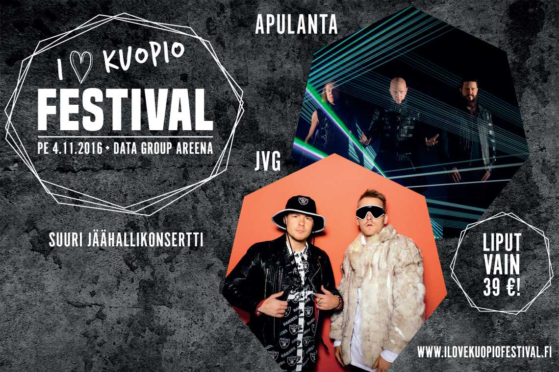 I Love Kuopio -festivaalit järjestetään Kuopiohallissa