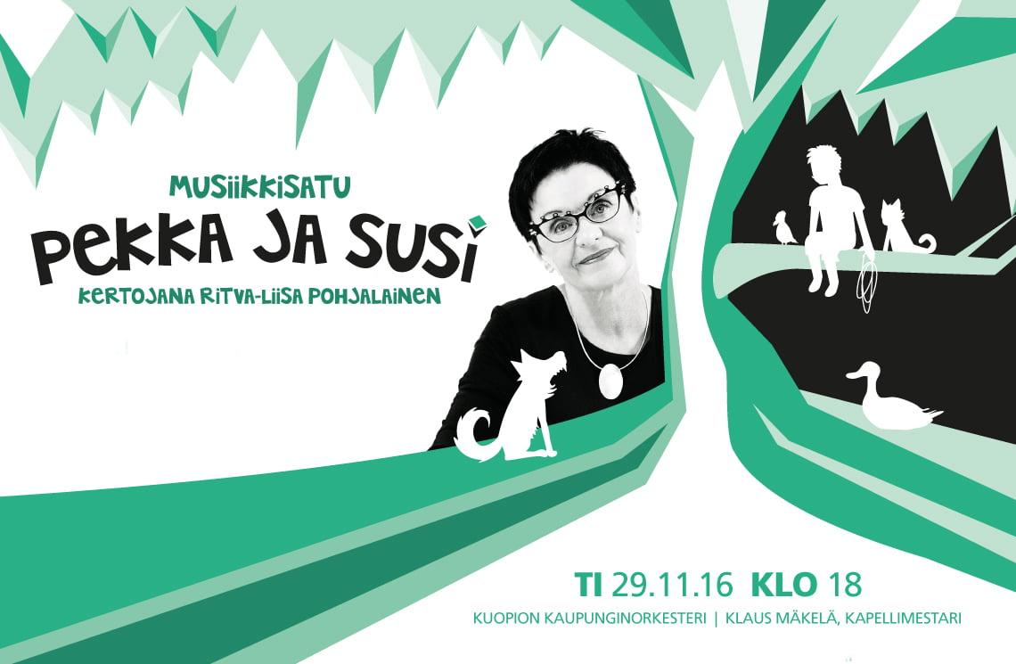 Musiikkisatu Pekka ja Susi Kuopion Musiikkikeskuksessa