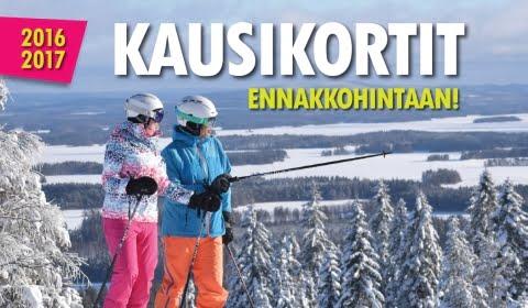 Tahkonrinteiden kausikorttiennakko 2016-2017