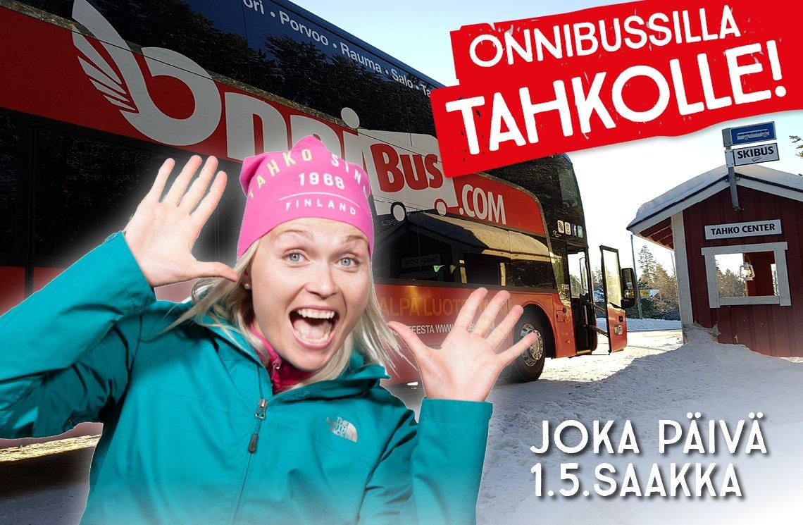 Onnibussilla Tahkolle