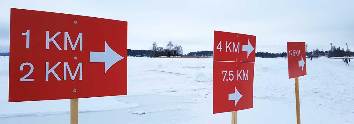 ratakyltit Finland Ice Marathon -radalla
