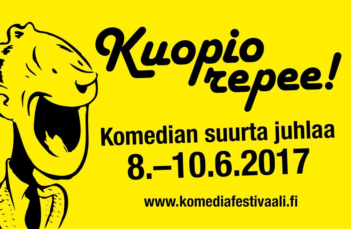 Komediafestivaalit Kuopiossa 8.-10.6.2017