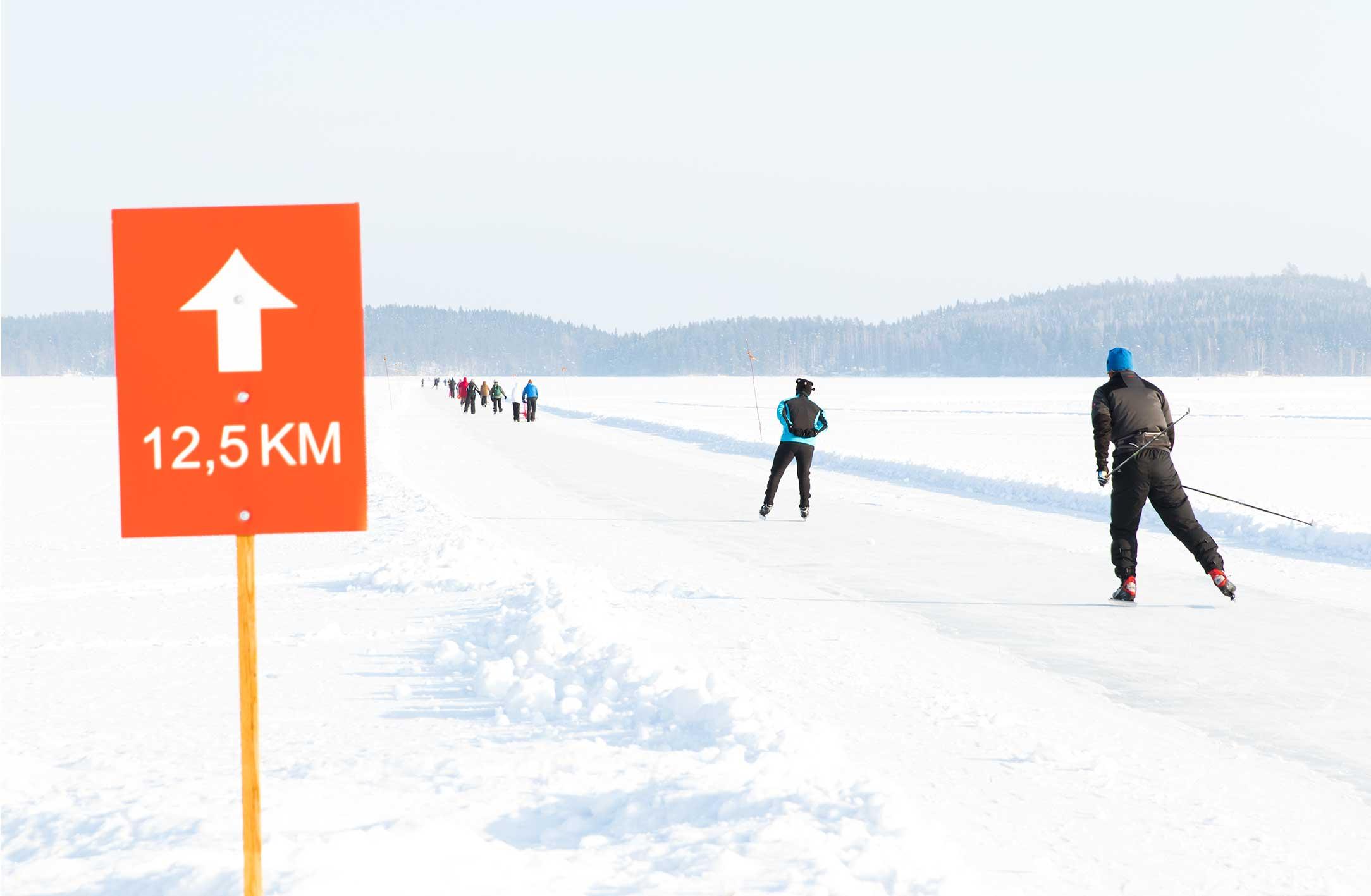 Finland Ice Marathon -luistelurata on kaikkien käytössä ilmaiseksi.